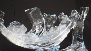 全国氷彫刻展夏季大会 8番ハンモックは気持ち良いね~