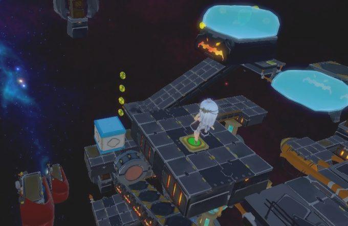 Light Tracer5-2 ブロックを足場にのせる