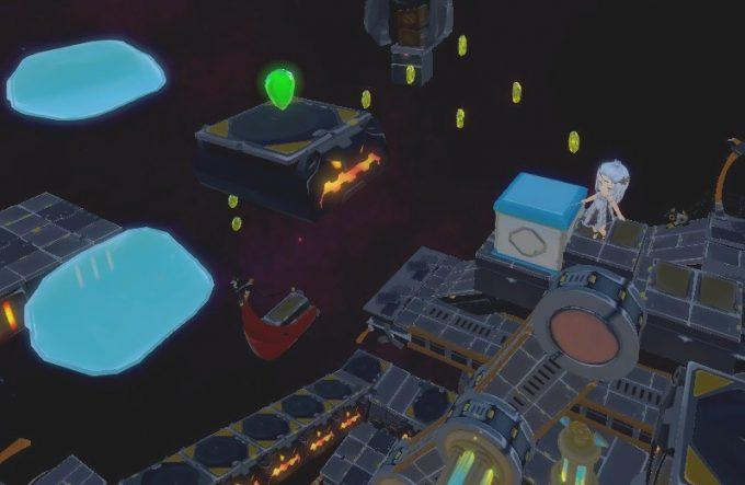 Light Tracer5-2 ブロックを台にして上の段へ