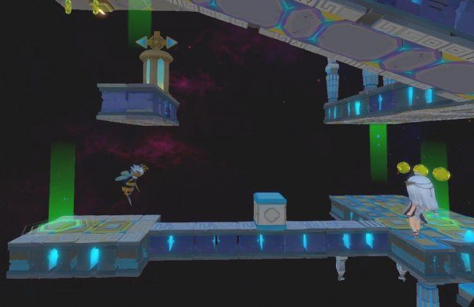Light Tracer6-2 ブロックとハチの通路