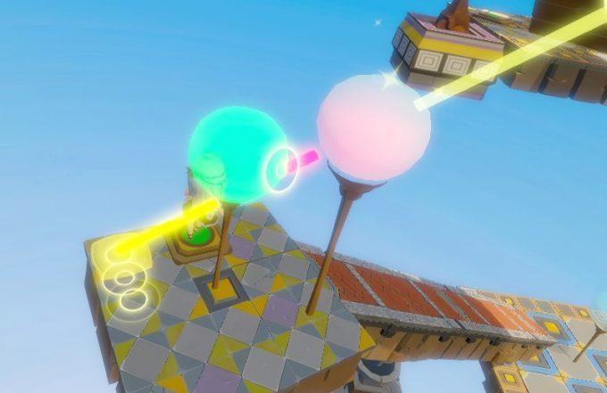 Light Tracer7-2 2つの街灯で光の色を変える