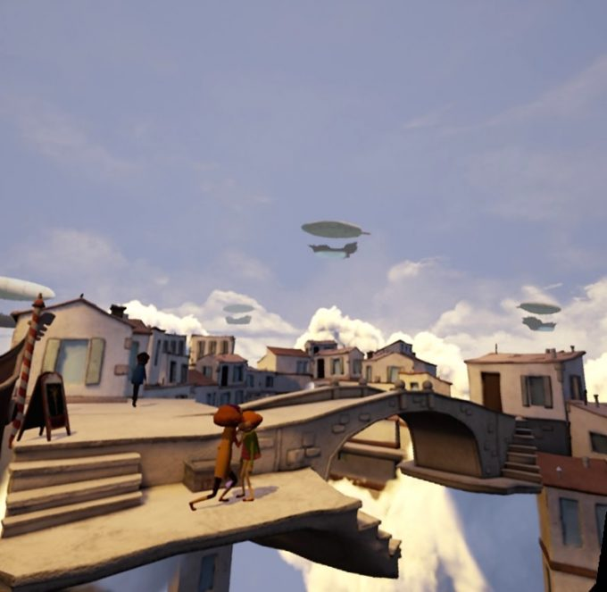 Allumette魅力的な雲の上の街という世界観