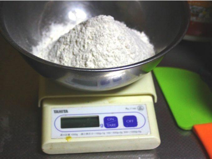 冷蔵庫発酵のパン作り 分量をはかる