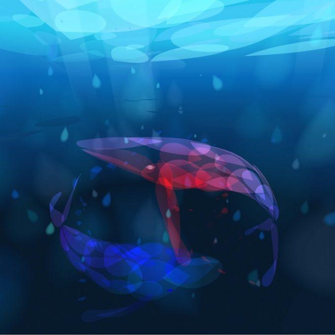 Sonariaクジラとなり、ふたたび水の中へ