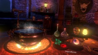 Waltz of the Wizard 魔法合成用の鍋と材料