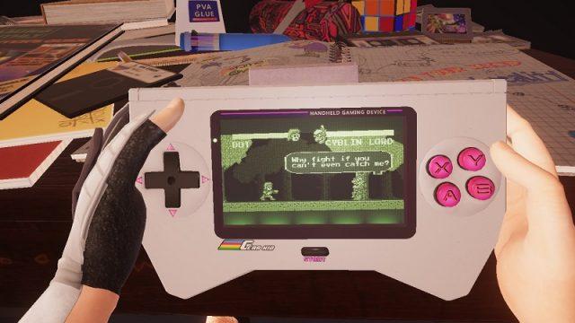 Pixel Ripped 1989 ゲーム内で携帯ゲームをプレイ