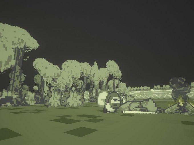 Pixel Ripped 1989 ステージの合間に挿入されるドット劇も見もの