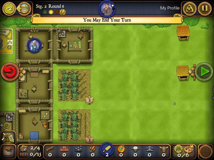 アプリ版アグリコラ ソロシリーズ Stableも建てて農場を発展