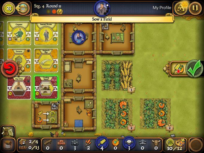 アプリ版アグリコラ ソロシリーズ 畑で野菜を育てる