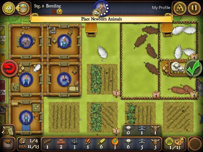 スマホアプリ版アグリコラ 農場画面