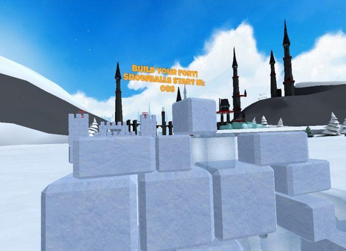 Snow Fortress 雪や氷のブロックで砦を作る