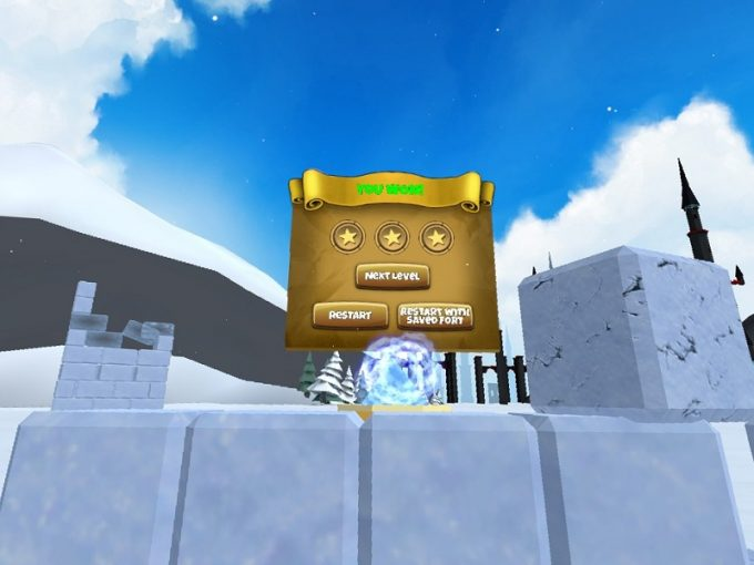 Snow Fortress ステージクリア