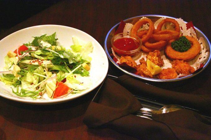 カラオケパセラ ボドゲパック サラダ&揚げ物盛り合わせ