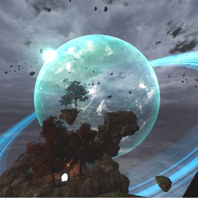 Etherian ステージから見える大きな月