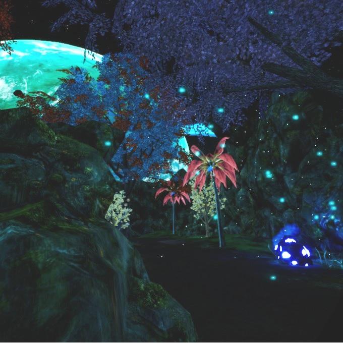 Etherian 幻想的な夜の風景