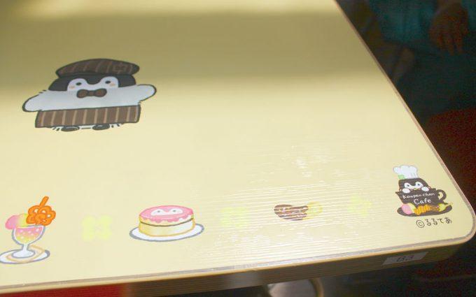 コウペンちゃんカフェ 感想レポート コウペンちゃんカフェテーブル1