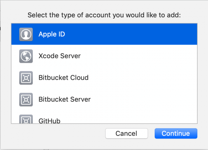 iOSアプリビルド準備10 Apple IDを選択
