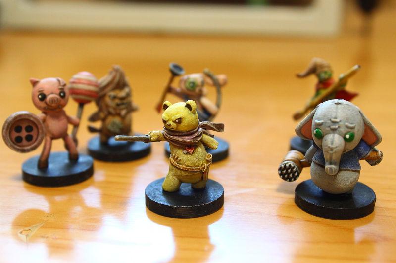 ヌイグルミ騎士団と少女の夢 プレイヤーキャラクターフィギュア
